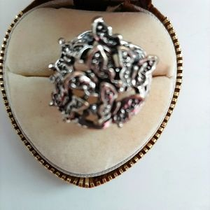 Vintage Butterfly Cluster Ring